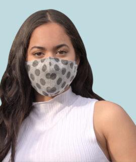 Masque En Lin Gris