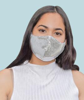 Masque En Paillettes Argentés