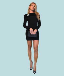 Long Sleeve Dress With Boat Neck